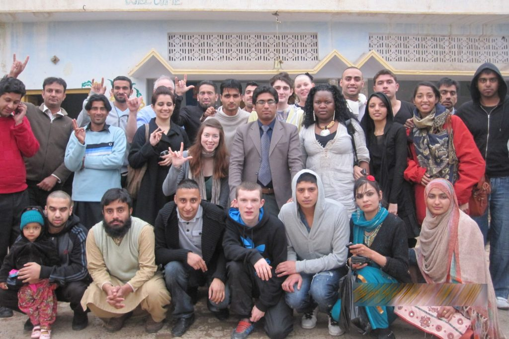 Group Picture of British Youngsters in Bangyal Community School Islamabad-Pakistan 2010