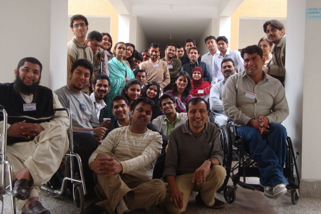 Active Citizen for Disabled Persons Workshop 2010 Group Picture