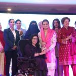Disabled Women Presenting Award to Ms. Maryal Aurangzaib, Muslim League (N) at Kadijah Tul Kubra Awards 20 March 2018 (229)
