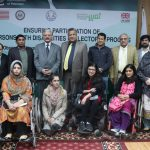 Group Picture of International Day of Persons with Disabilities in Collaboration with Election Commission of Pakistan on Electoral Process Workshop 2017