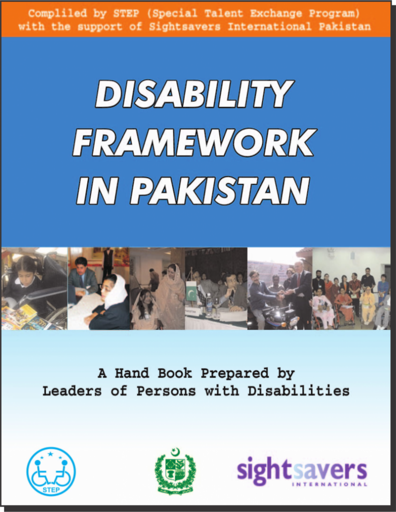 Title Page of Disability Frame work in Pakistan