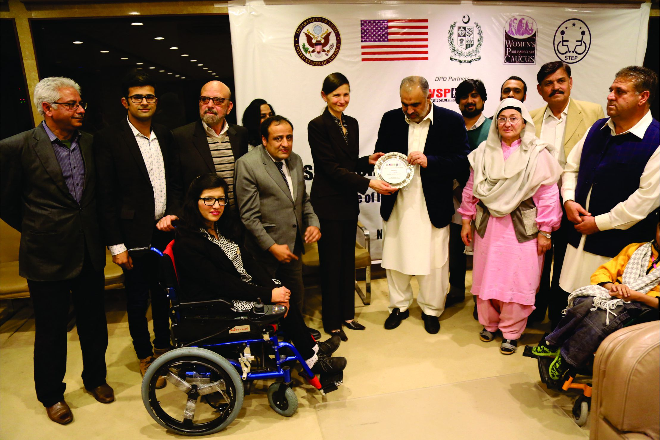 Speaker National Assembly Presenting Shield to US Embassy Representatives