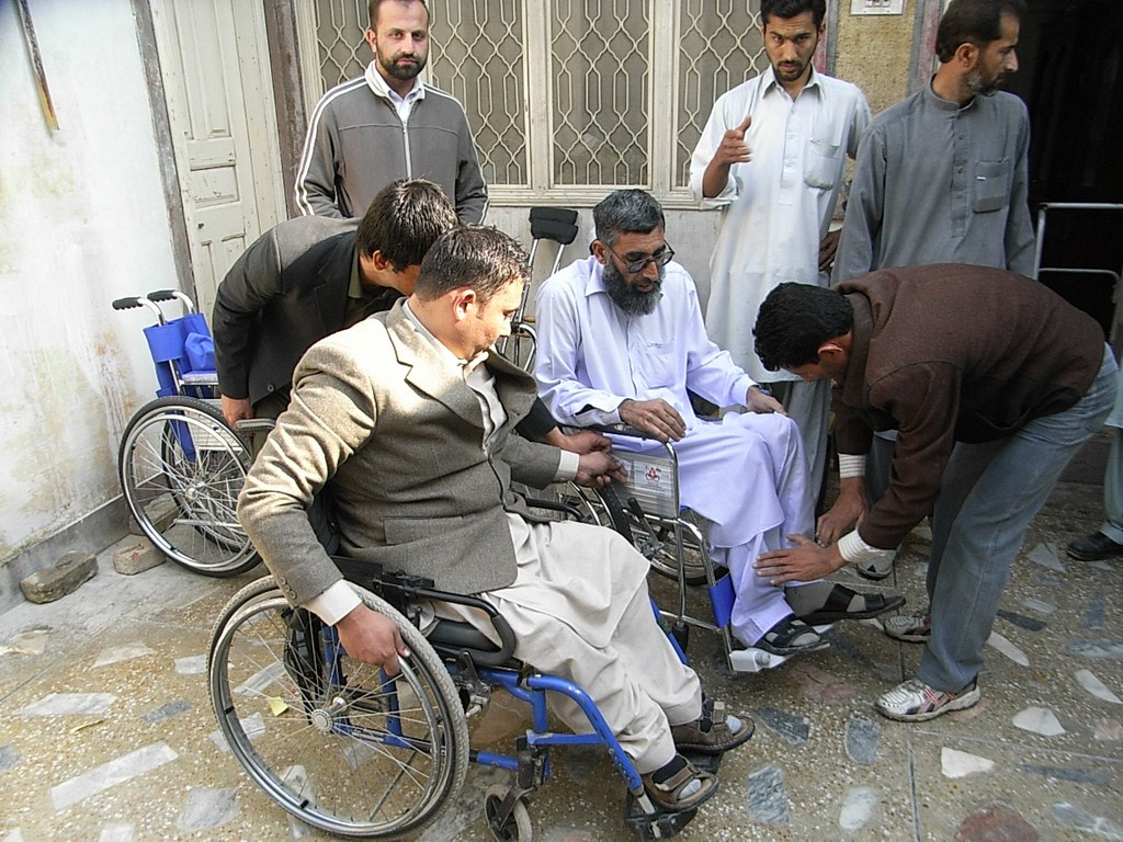 Direct Support: Picture at Wheelchair Distribution Nowshera 2011