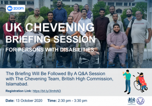 Chevening Scholarship Programme 2021/2022 – Briefing Session for Persons with Disabilities